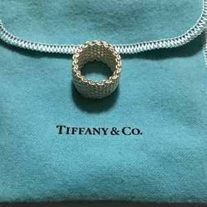 Tiffany &Co Sterling Silver Mesh Ring